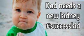 Sammy : Il piccolo Success Kid chiede aiuto per il papà malato