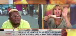Alessandra Mussolini contro Bello Figo a Dalla vostra parte