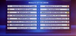 Champions League  - sorteggio ottavi: il Napoli pesca il Real, Juve col Porto