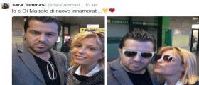 Sara Tommasi senza Andrea Dipré ma con Christian Di Maggio su Twitter