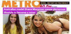 Shana Mooyman : La sexy modella che lavora in miniera