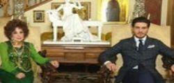 Gina Lollobrigida a Domenica live : Il 29enne Andrea Piazzolla al fianco dell