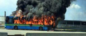 A4 Milano-Torino : In fiamme pullman linea Movibus