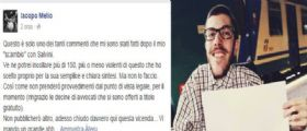 Iacopo Melio : Idolo disabile del web commenta il post di Salvini su Facebook