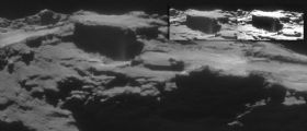 Nuovi getti dalla cometa 67P nelle immagini della NavCam