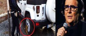 Renato Zero parcheggia la sua Jeep in ztl : I vigili mettono le ganasce ... lui non la prende bene