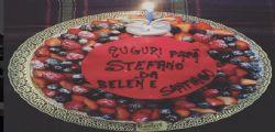 Belen Rodriguez festeggia il compleanno del marito Stefano De Martino