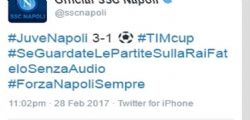 Juventus-Napoli : Napoli twitta contro la Rai