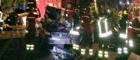 Incidente Roma : Mezzo Ama si ribalta su tre auto, un morto e 4 feriti