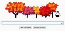 Doodle : L'arrivo dell'autunno di Google