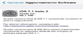 iOS 7.1 Beta 3 : La Apple lo rilascia agli sviluppatori Link al Download