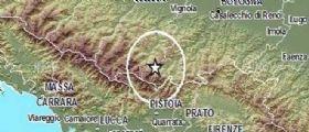 Terremoto Oggi : Scossa di magnitudo 2.8 tra Modena Bologna e Pistoia