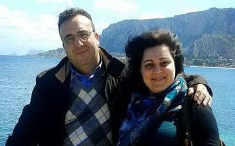 Roberto Orestano e Rosa Parrinello (foto da Facebook)