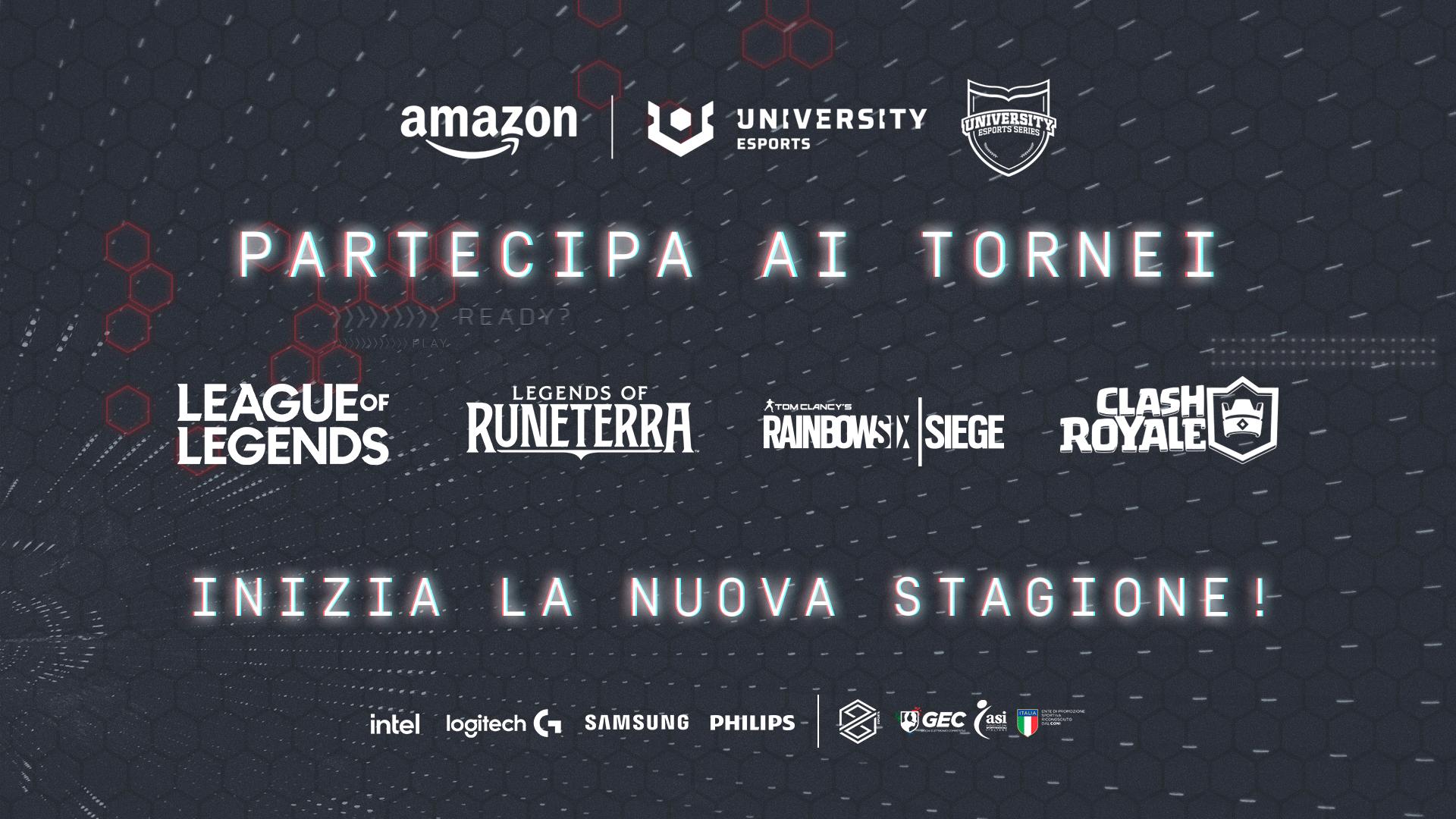 Amazon University Esports: il torneo per atenei italiani