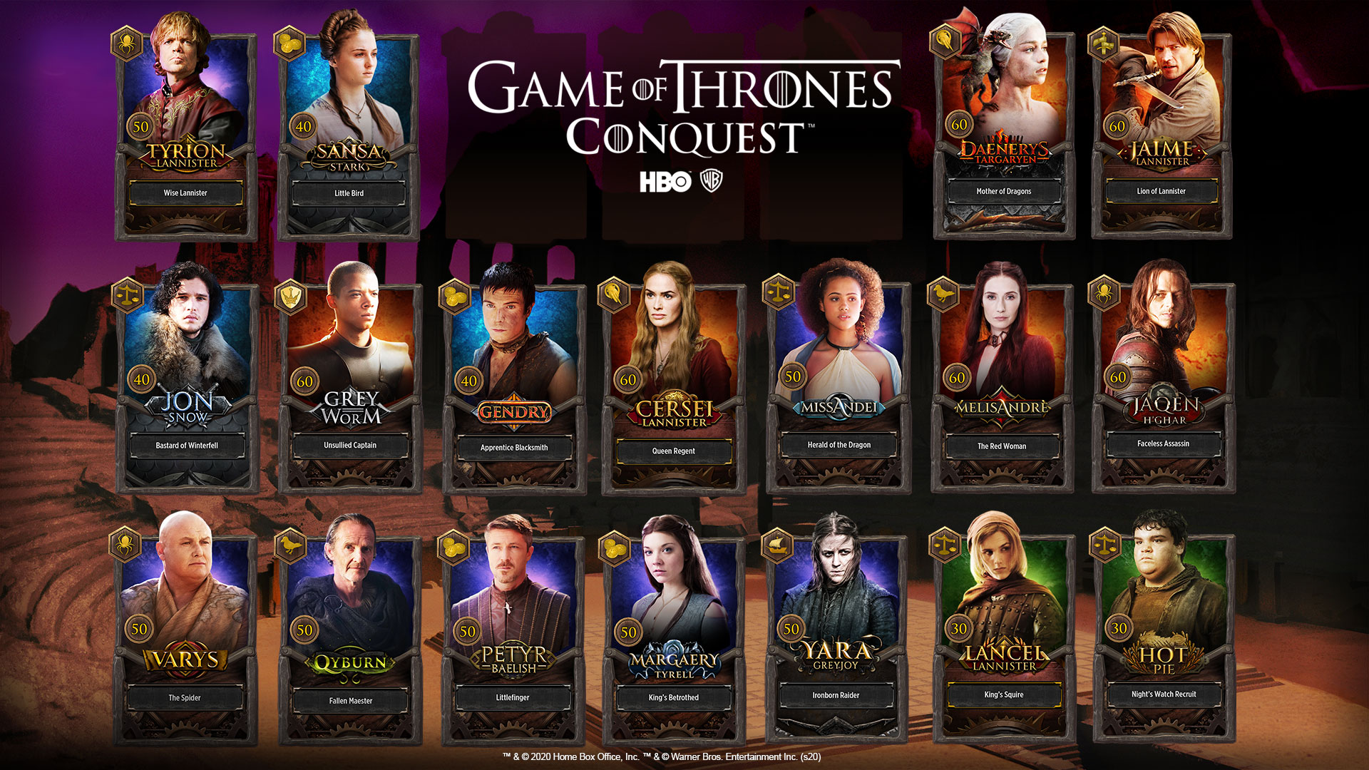 Warner Bros. Games I Arrivano gli eroi in Game of Thrones: Conquest