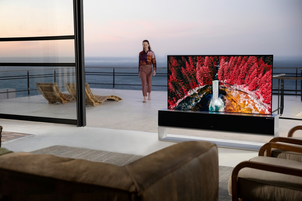Il TV arrotolabile di LG è disponibile in Corea del Sud