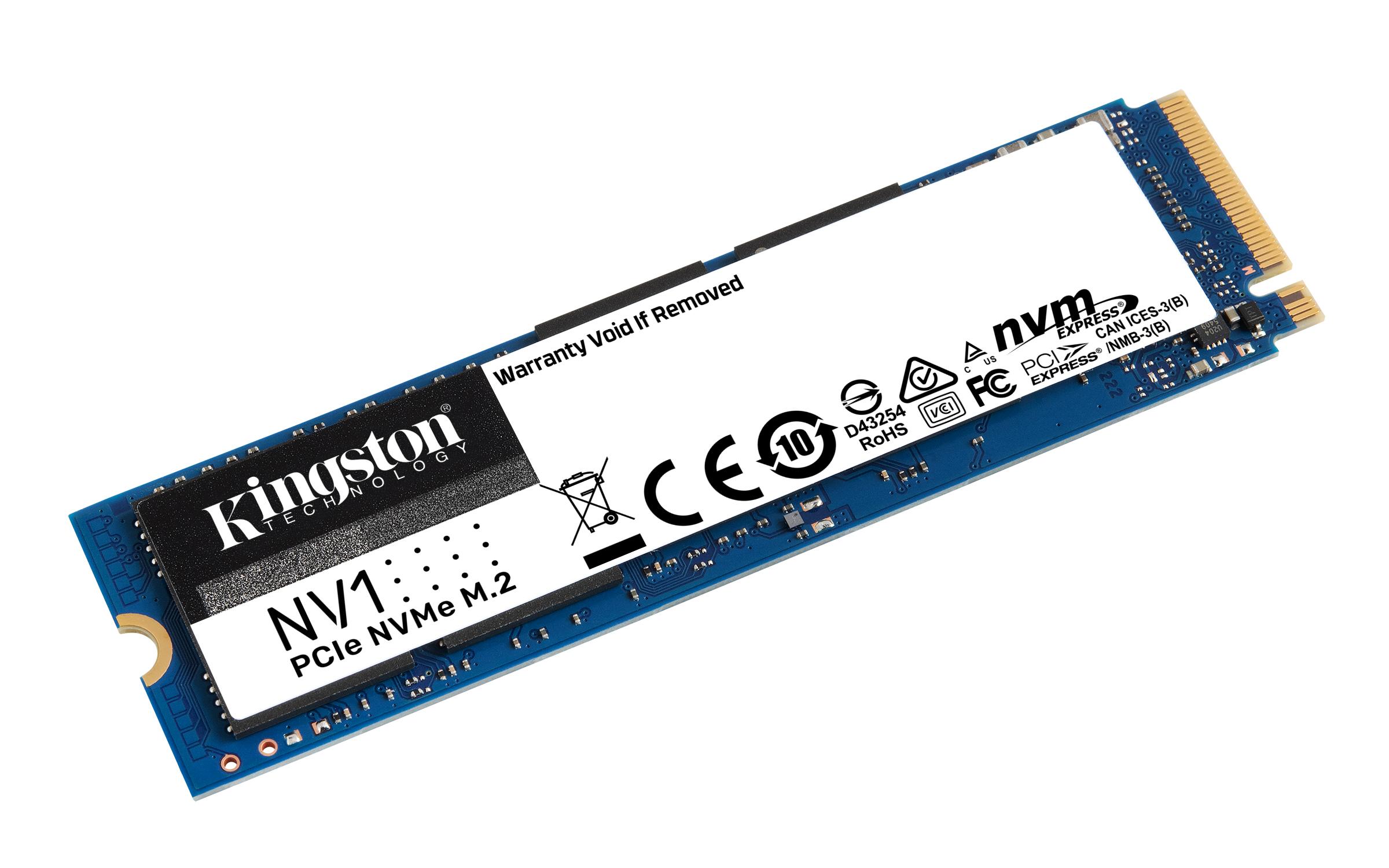Kingston Digital presenta il drive a stato solido PCIe NVMe NV1