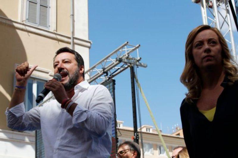 Meloni e Salvini, c