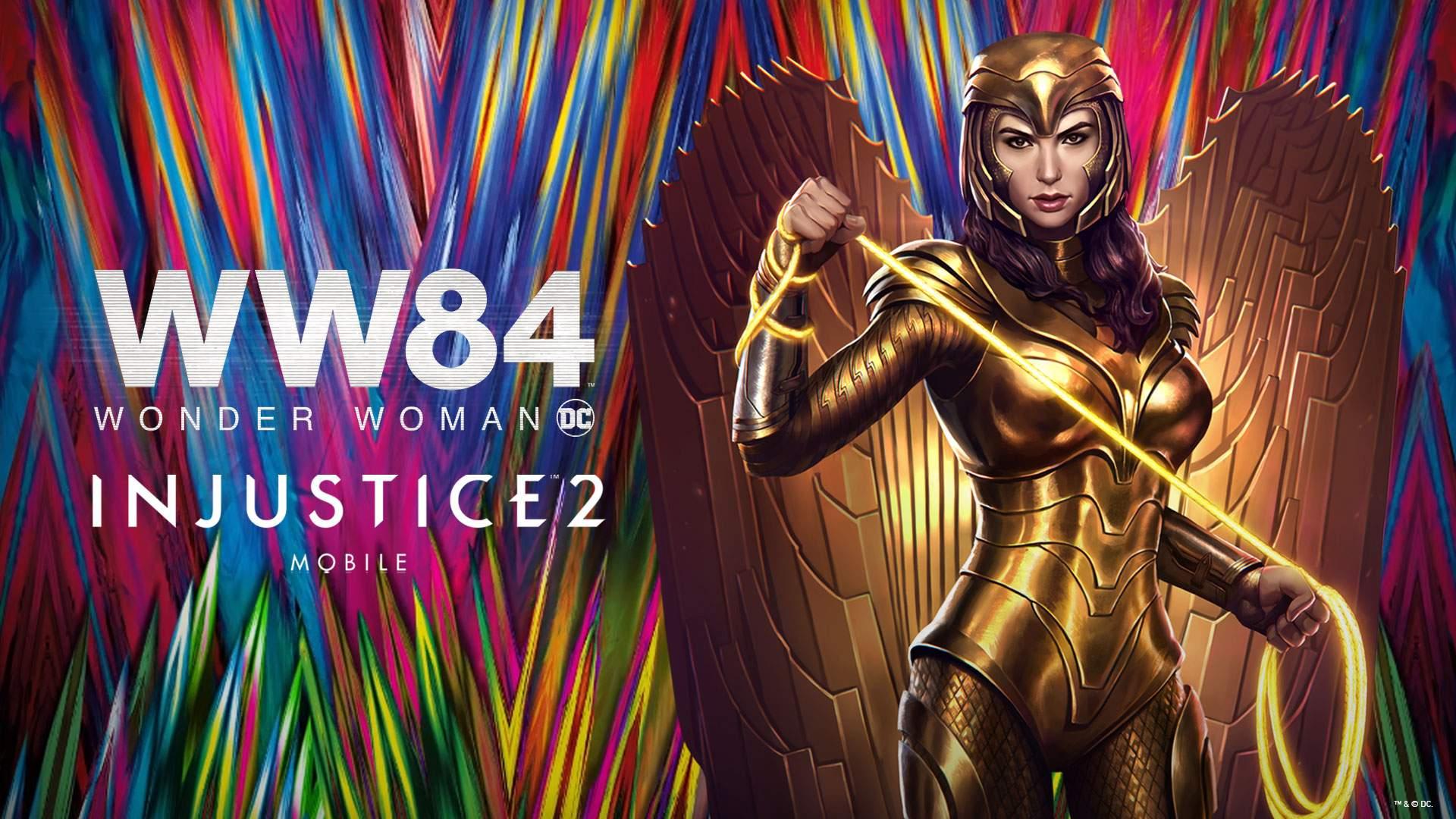 WB Games I Wonder Woman Armatura Dorata disponibile per mobile Injustice 2