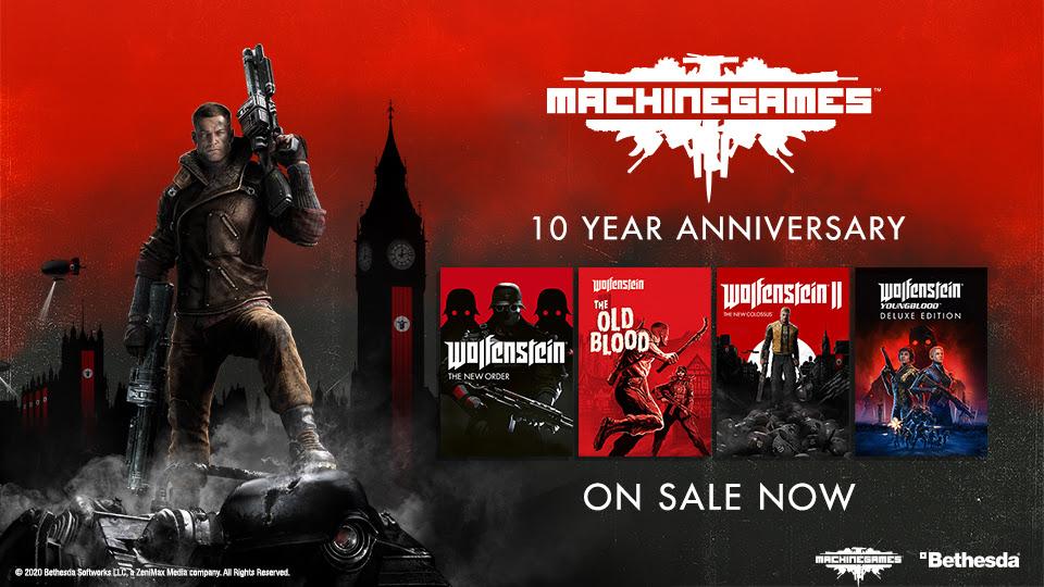 MachineGames festeggia 10 anni con offerte e bundle
