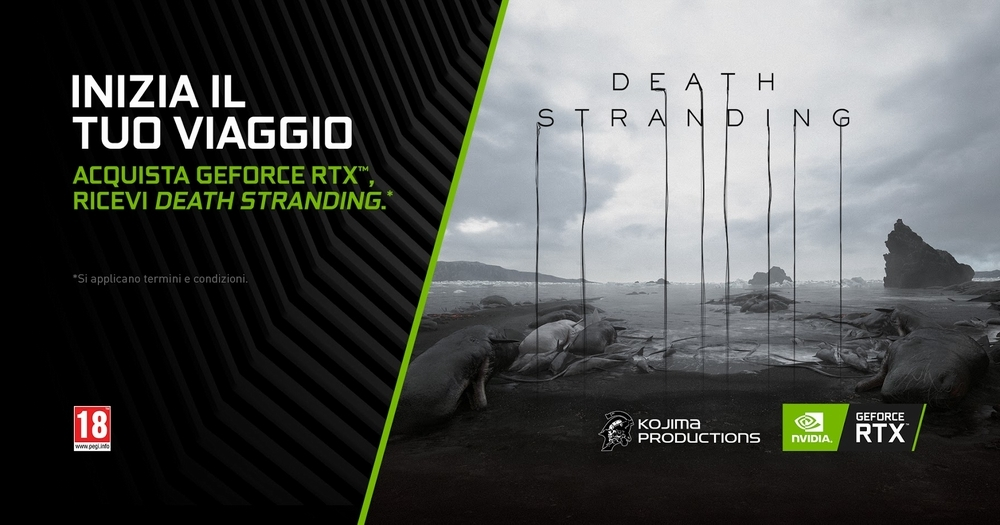 Acquista GeForce RTX e avrai DEATH STRANDING