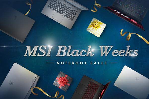 MSI Black Weeks: fino a 600 euro di sconto su selezione laptop