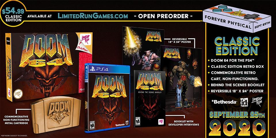 DOOM 64 verrà ripubblicato fisicamente in collaborazione con Limited Run Games!