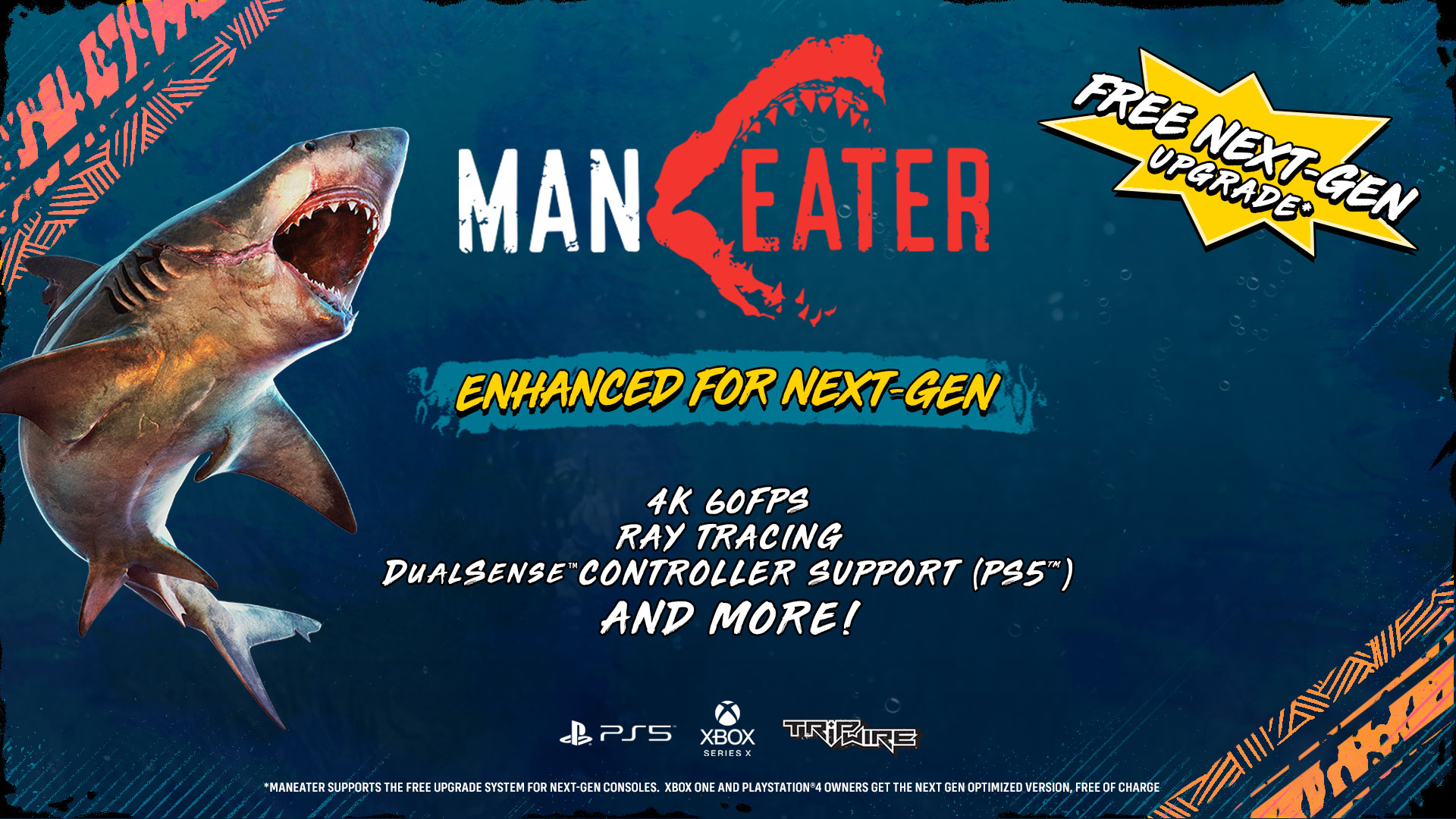 Maneater: Ray-Tracing, 4K HDR 60 FPS per Xbox SX e PS5