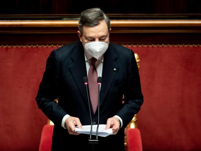 Mario Draghi, Discorso al Senato