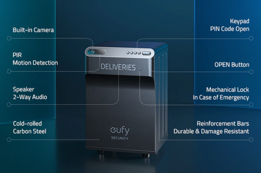 Arriva Eufy Security Smart Drop, la cassetta portapacchi smart