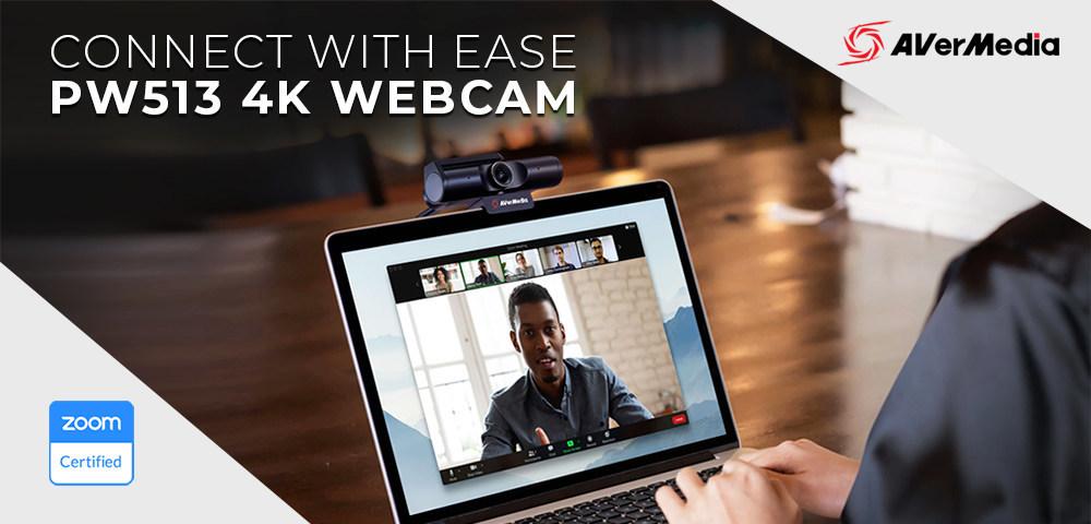 AverMedia annuncia la webcam PW513 4K certificata da Zoom