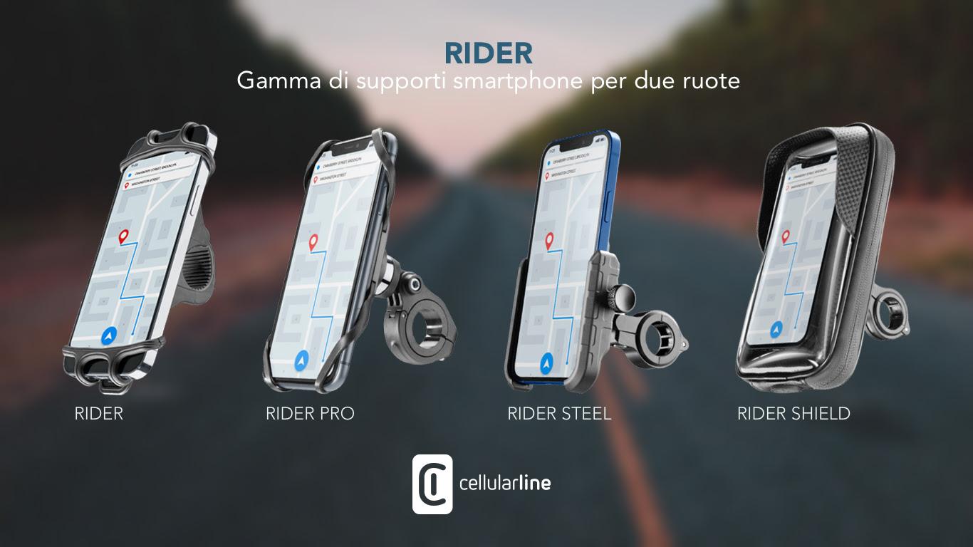 Cellularline presenta Rider, gamma di supporti moto
