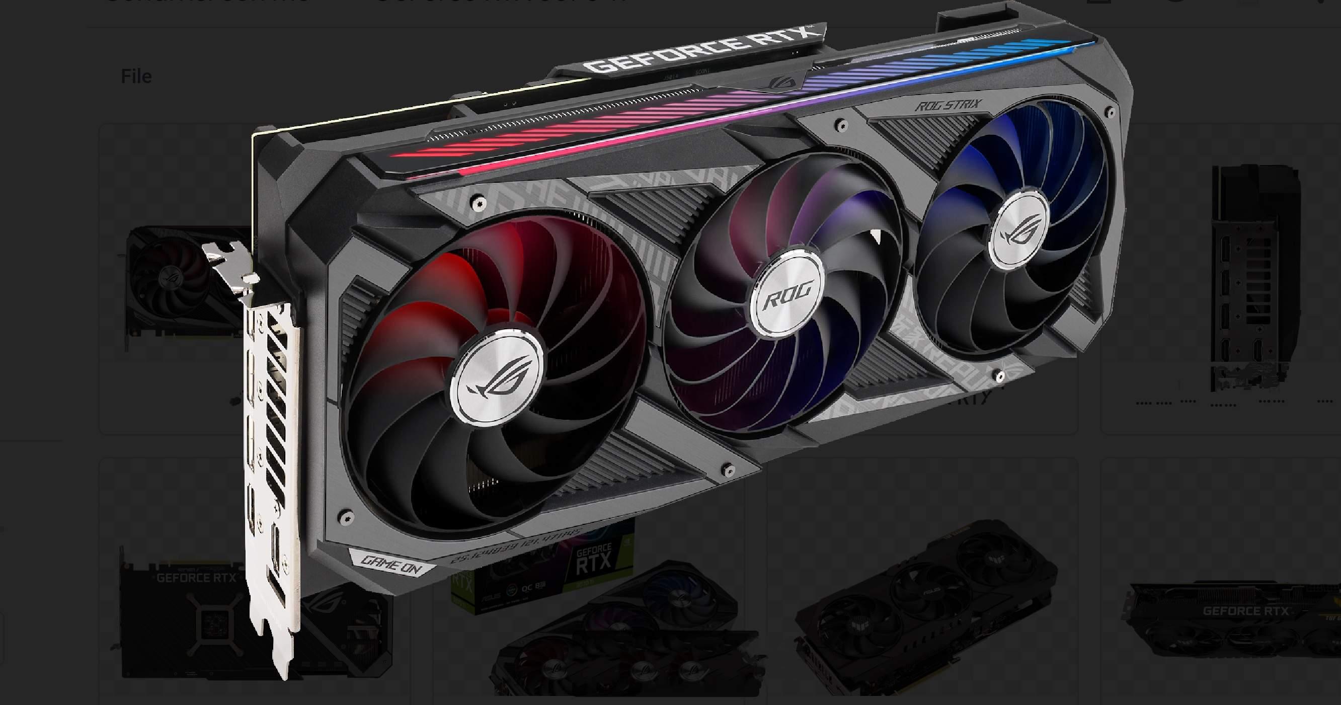 ASUS annuncia le VGA GeForce RTX 3080Ti e 3070 Ti