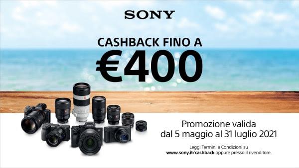 Torna la promozione Cashback sui prodotti di Digital Imaging di Sony
