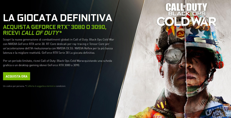 RTX 3080/90, ti regala Call of Duty: Black Ops Cold War