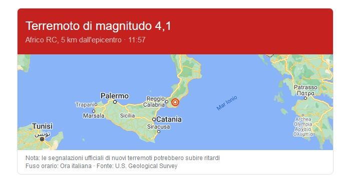 Terremoto Calabria Oggi 19 Dicembre 2020
