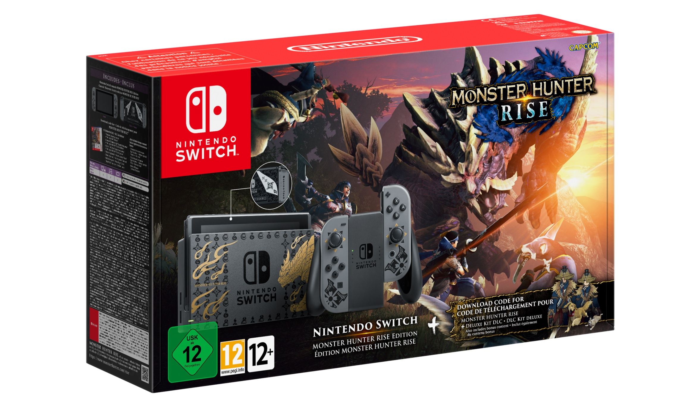 Nintendo - Monster Hunter Rise - Edizione speciale Switch e Pro Controller