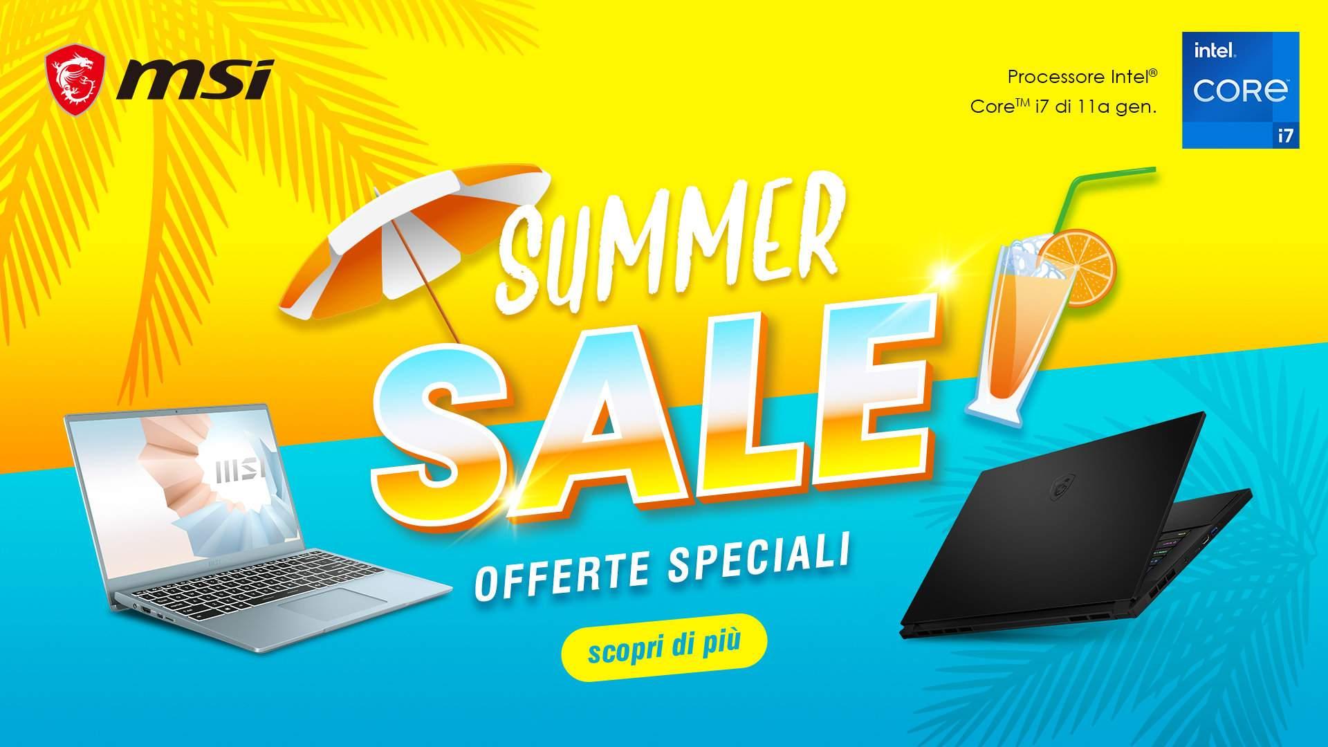 MSI Summer Sale fino a 600 euro di sconto su diversi laptop