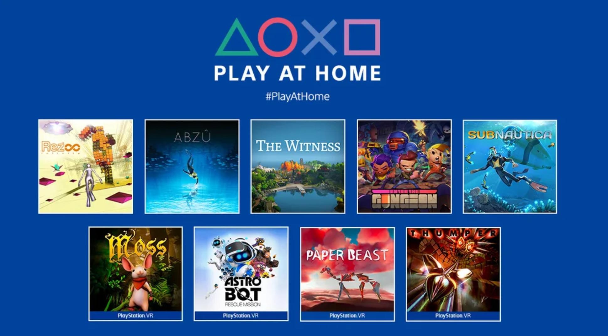 Play at Home: 10 titoli gratuiti arrivano in primavera
