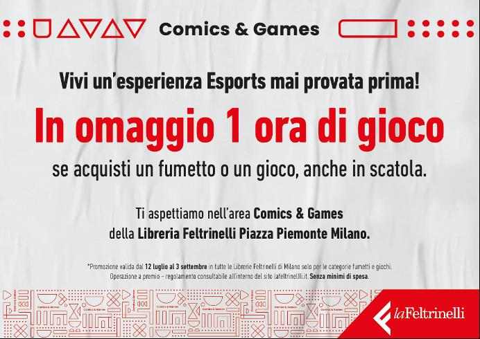 """FELTRINELLI COMICS & GAMES APRE LE PORTE DELL'ESCLUSIVA """"AREA GAMING"""""""