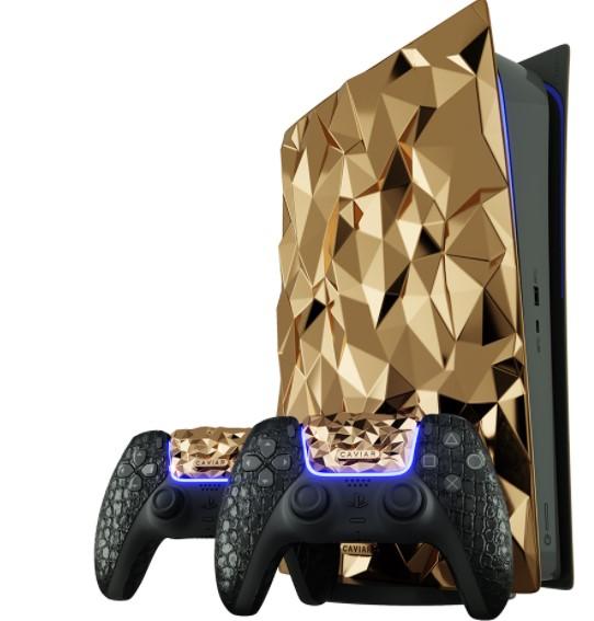 La PS5 Golden Rock la console ricoperta da 20 Kg d'oro