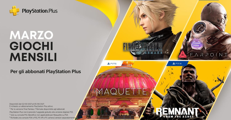 PlayStation Plus: i giochi di marzo