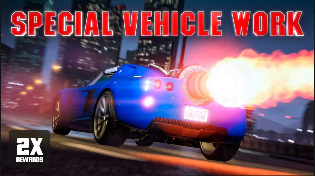 GTA Online: ricompense doppie nelle Missioni Veicoli Speciali