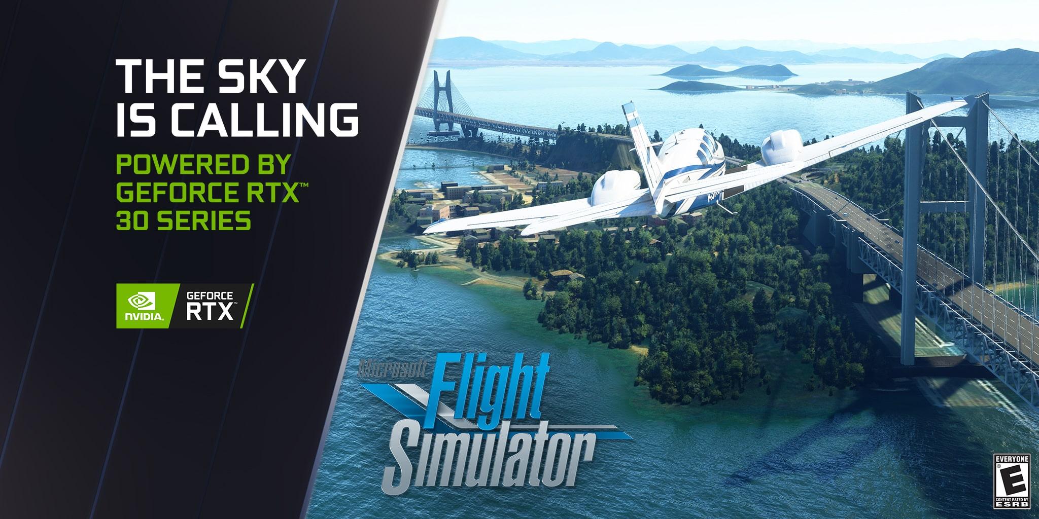 Microsoft Flight Simulator: Raddoppio delle prestazioni con un aggiornamento delle GeForce RTX Serie 30