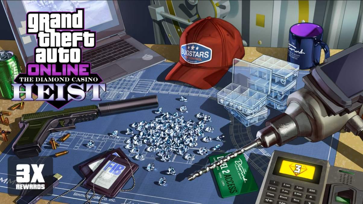 GTA Online: ricompense triple incarichi casinò e sui diamanti nel caveau
