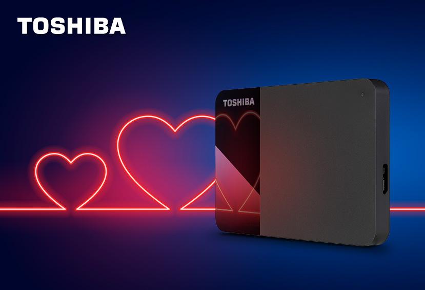 Da Toshiba quattro hard disk per San Valentino