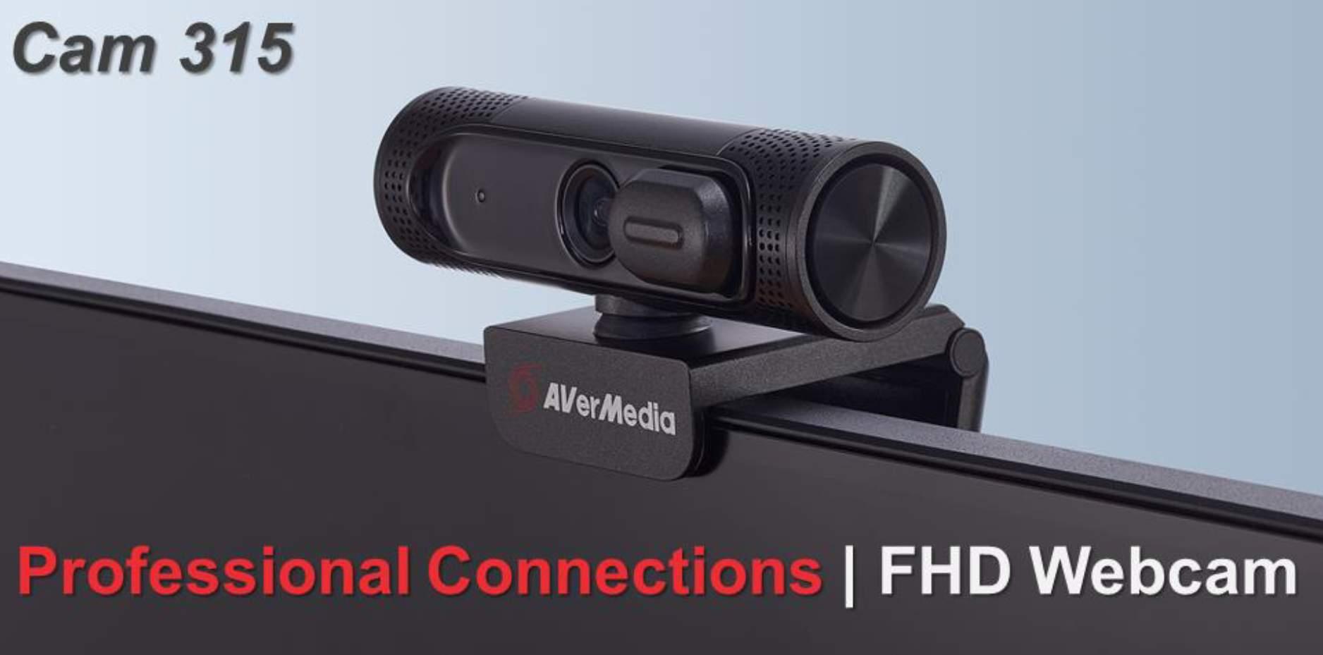 AVerMedia presenta le webcam CAM 310P e CAM 315