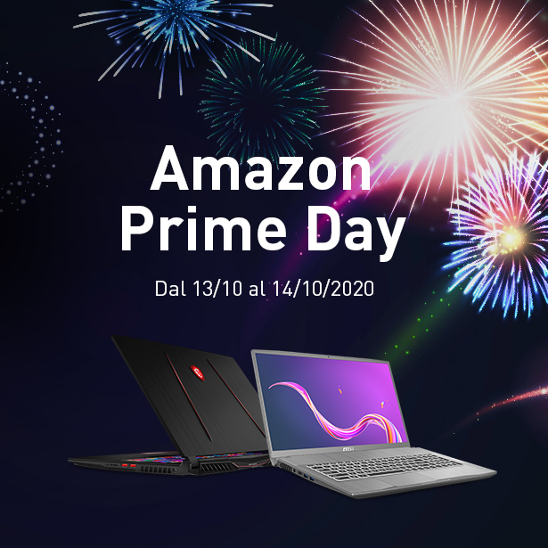 Amazon Prime Day: 500€ di sconto per i laptop MSI