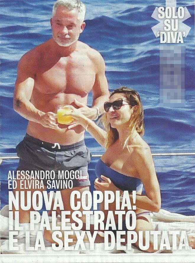 Alessandro Moggi paparazzato con la deputata Elvira Savino