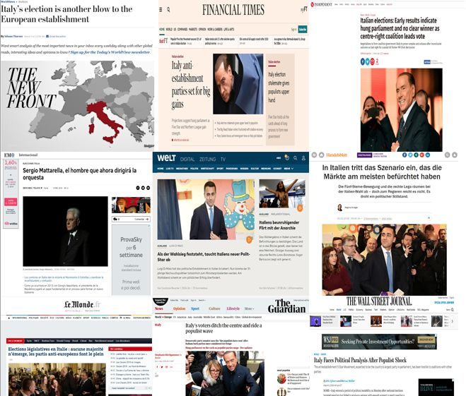 Elezioni politiche 2018 : Ecco le reazioni della stampa estera | L'Italia si merita di meglio